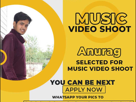Anshuman is Selected for the Celebrity Face Music Video shoot.