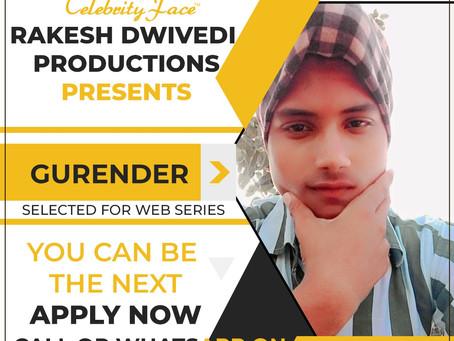 Gurender is Selected for the Celebrity Face Short Video Shoot.
