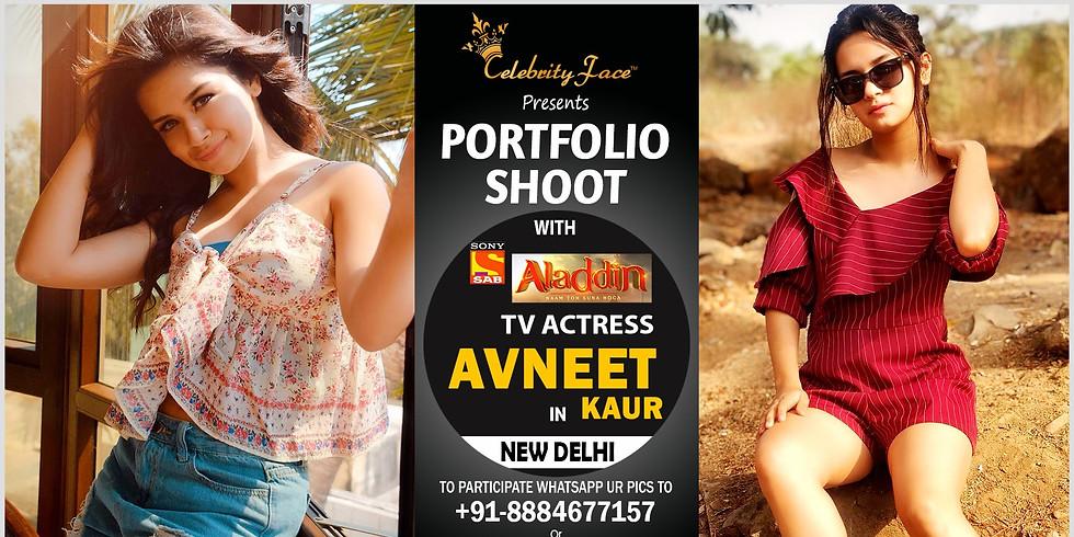 Meet Top Tv Actress Avneet Kaur in Delhi on 14th December