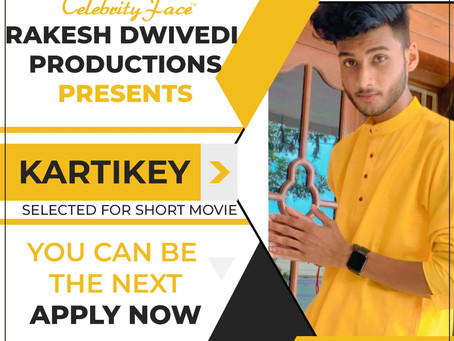 Kartikey is Selected for the Celebrity Face Short Video Shoot.