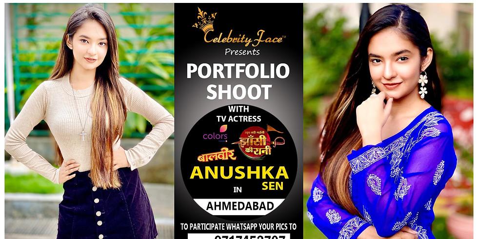 Meet Top Tv Actress  Anushka Sen in Ahmedabad on 22th December