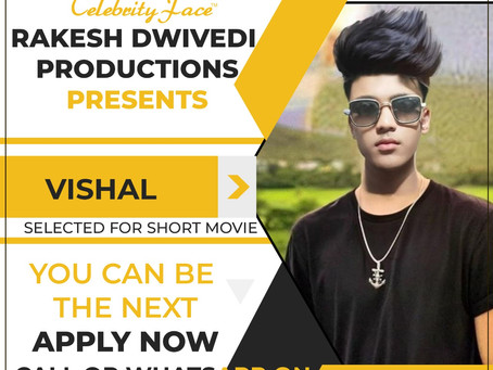 Vishal is Selected for the Celebrity Face Short Video Shoot.