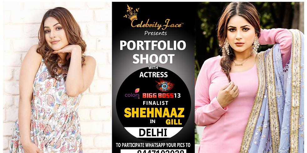 Meet Top Tv Actress  Shehnaaz Gill in Delhi on 4th  April