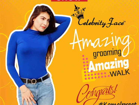 Komalpreet is Selected for the Celebrity Face Fashion Show
