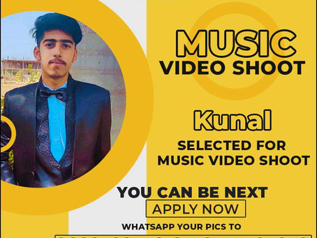Kunal is Selected for the Celebrity Face Music Video Shoot.
