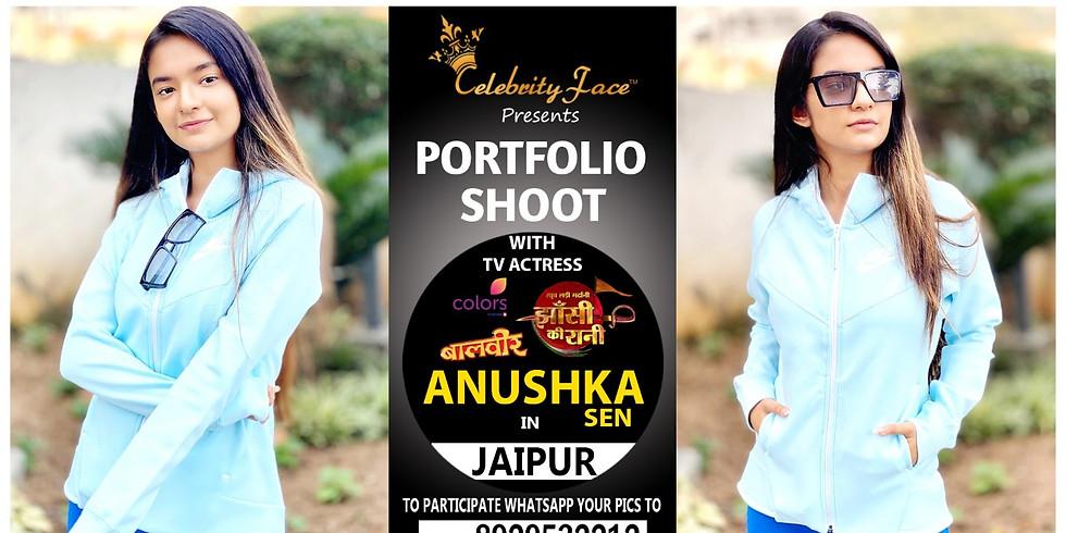 Meet Top Tv Actress  Anushka Sen  in Jaipur on 5th April