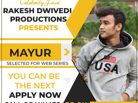 Mayur is Selected for the Celebrity Face Short Video Shoot.