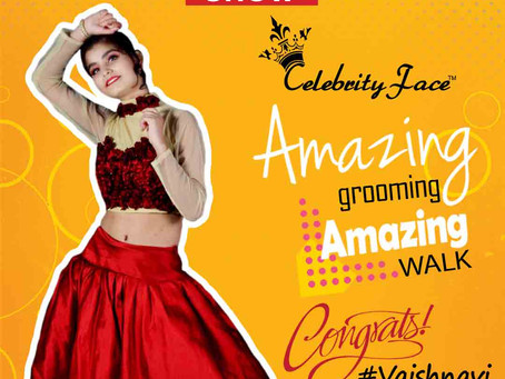 Vaishnavi is Selected for the Celebrity Face Fashion Show