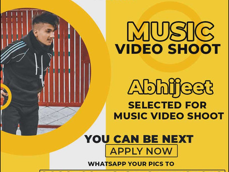 Abhijeet is Selected for the Celebrity Face Music Video Shoot.