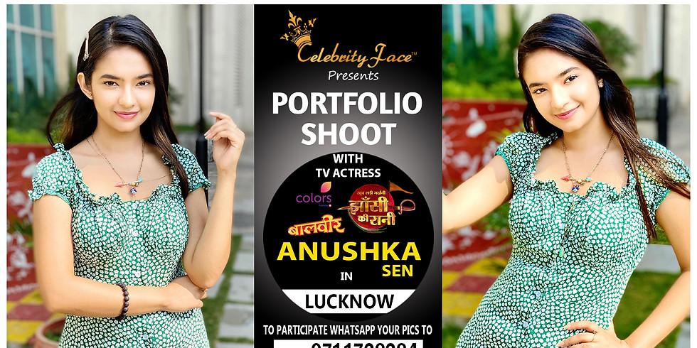 Meet Top Tv Actress  Anushka Sen  in Lucknow on 28th  March