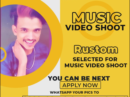 Rustom is Selected for the Celebrity Face Music Video Shoot.