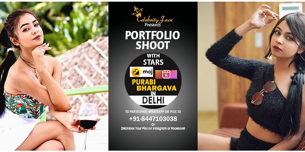 Meet Greet and PhotoShoot with Reels Moj App Star Purabi Bhargava