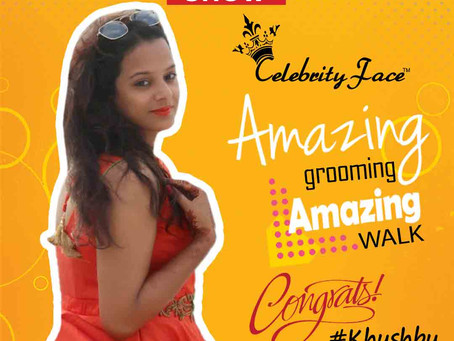 Khushbu is Selected for the Celebrity Face Fashion Show