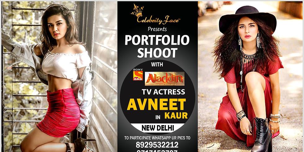 Meet Top Tv Actress Avneet Kaur in Delhi on 28th September