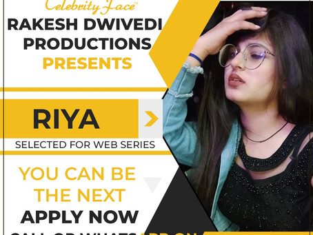 Riya is Selected for the Celebrity Face Short Video Shoot.