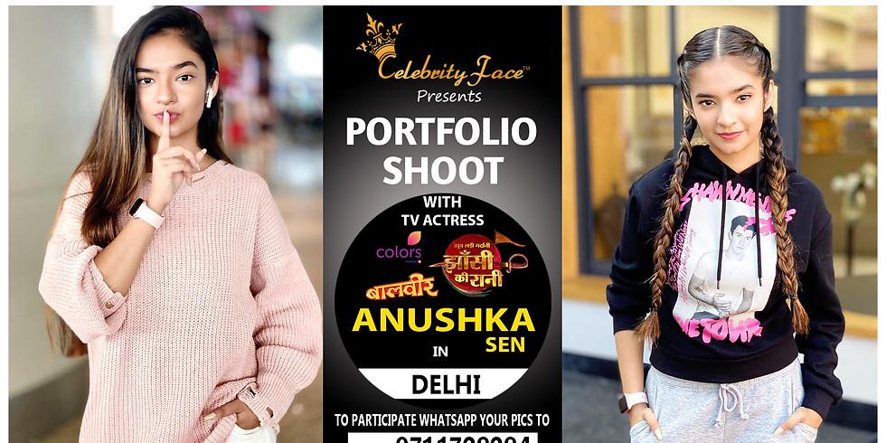 Meet Top Tv Actress  Anushka Sen  in Delhi on 29th  March