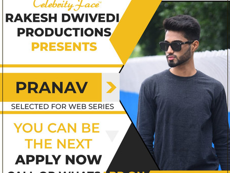 Pranav is Selected for the Celebrity Face Short Video Shoot.