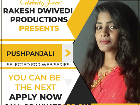Pushpanjali is Selected for the Celebrity Face Short Video Shoot.