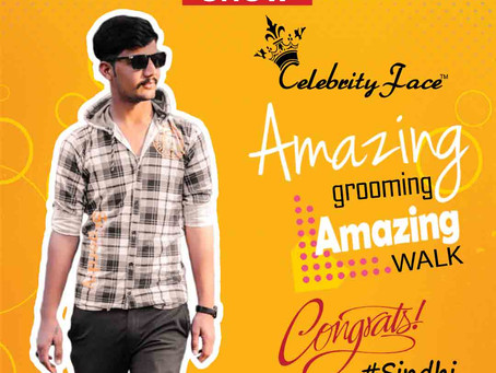 Sindhi is Selected for the Celebrity Face Fashion Show