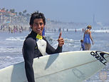 Homestay student at Los Angeles beach