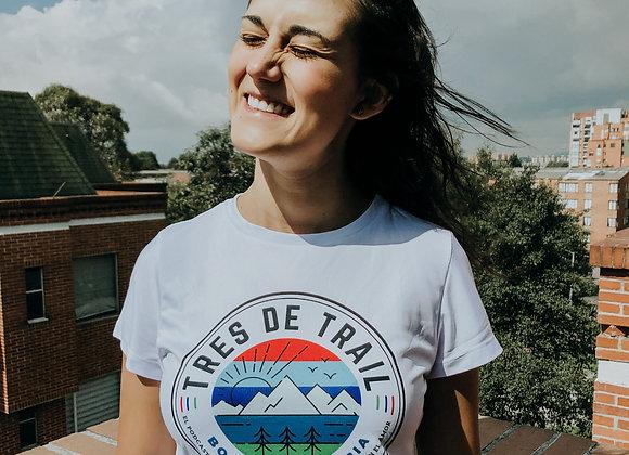 Camiseta Blanca Tres de Trail