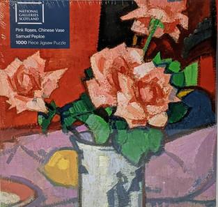 $21.00 Pink Roses,Chinese Vase