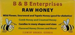 B & B Enterprises Raw Honey