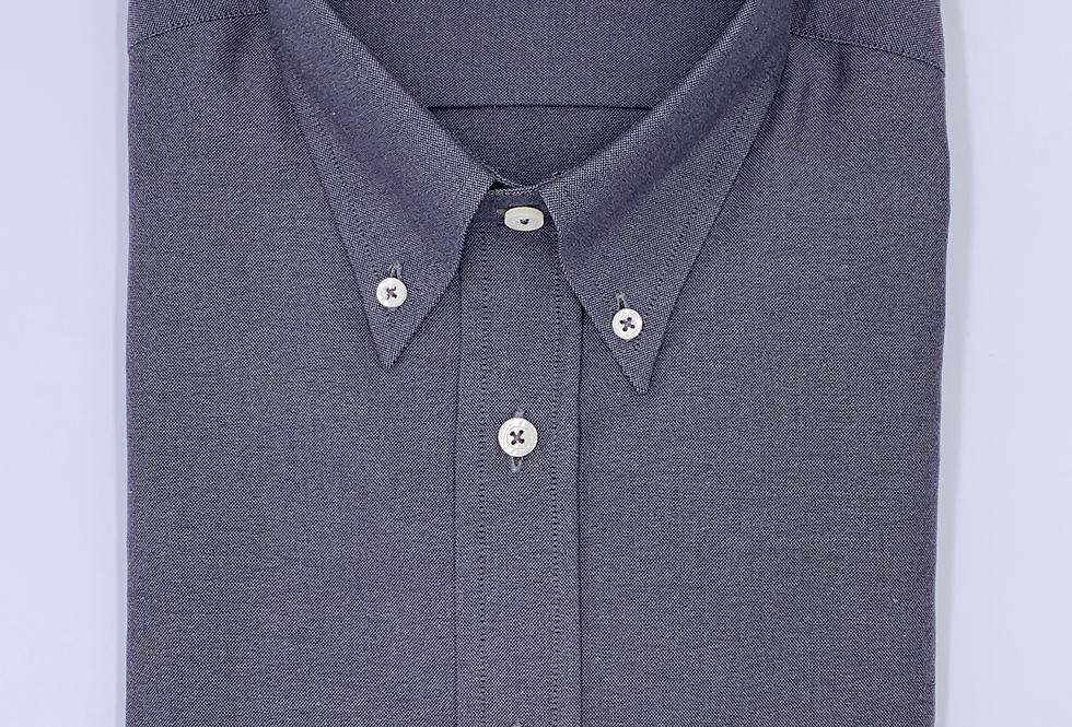 Camisa Oxford Gris Marengo
