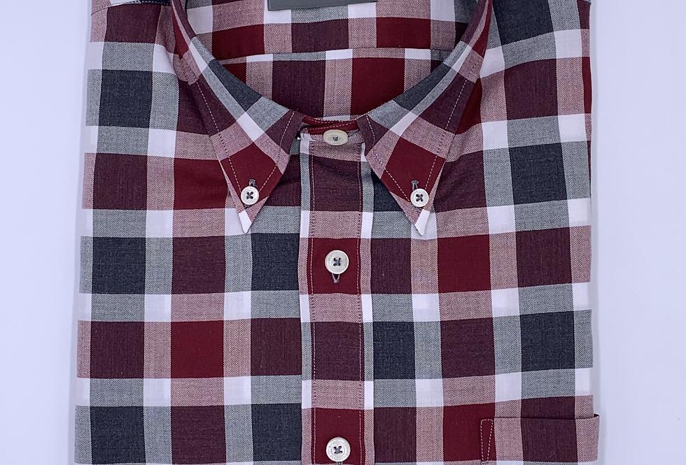 Camisa de cuadros flanella melange.