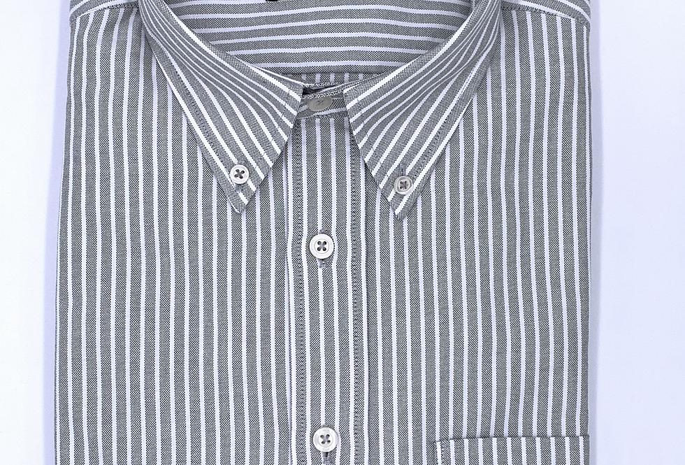 Camisa Oxford rayas gris i blanco