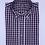 Thumbnail: Camisa de cuadros violeta, gris y blanco