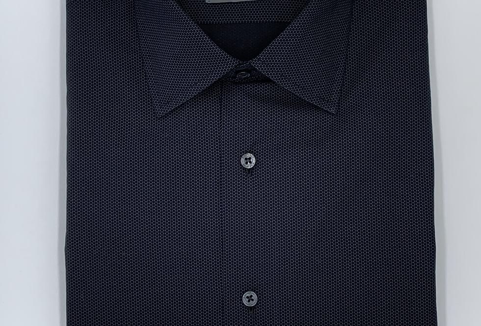 Camisa popelín negro con detalle estampado. Edición limitada.