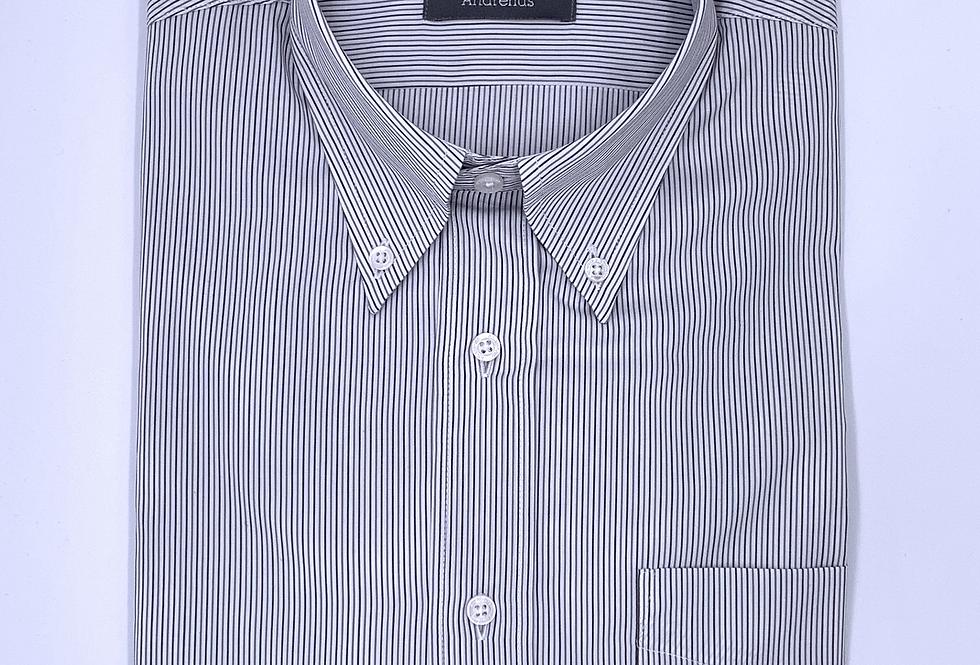 Camisa Sport rayas grises y azules. Algodón egipcio.