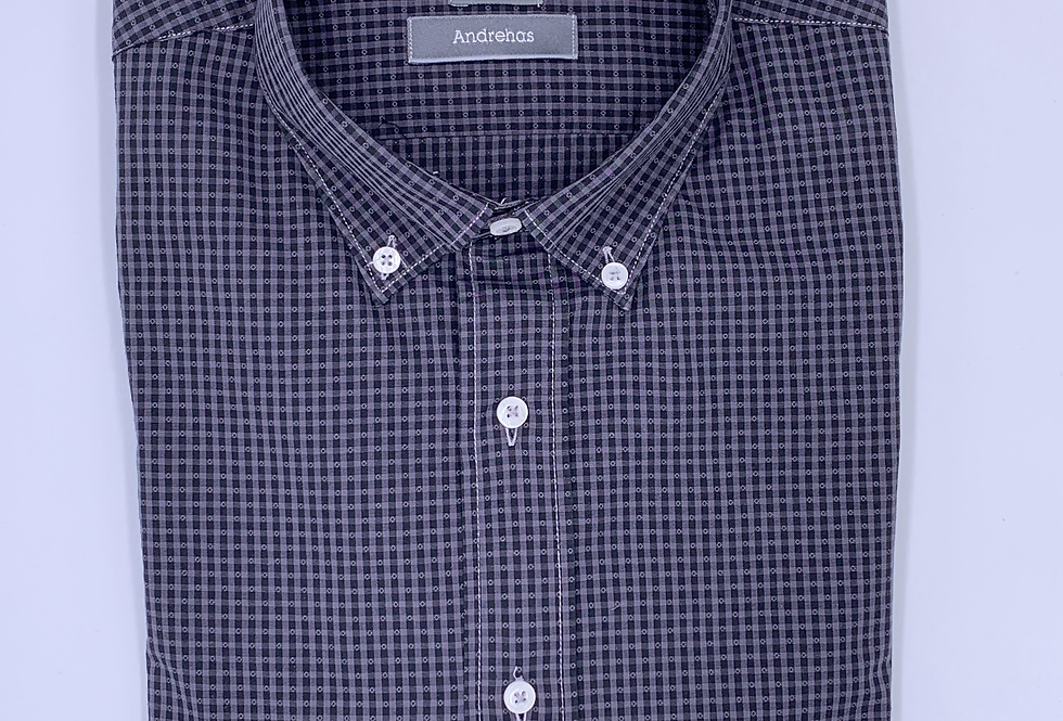 Camisa cuadros 2 grises y muestra