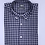 Thumbnail: Camisa de cuadros  gris melange y azul marino