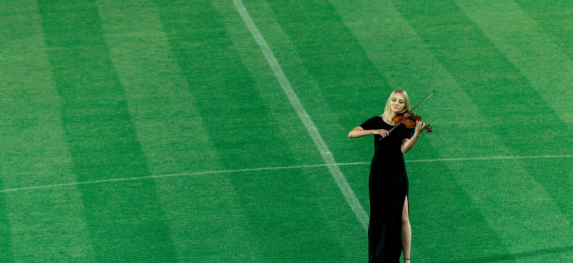 Solo Violinist Sally Potterton - Stadium Performance