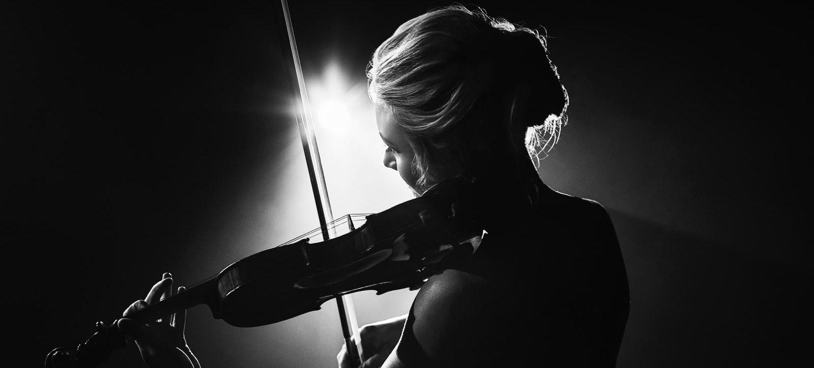 Violinist Sally Potterton