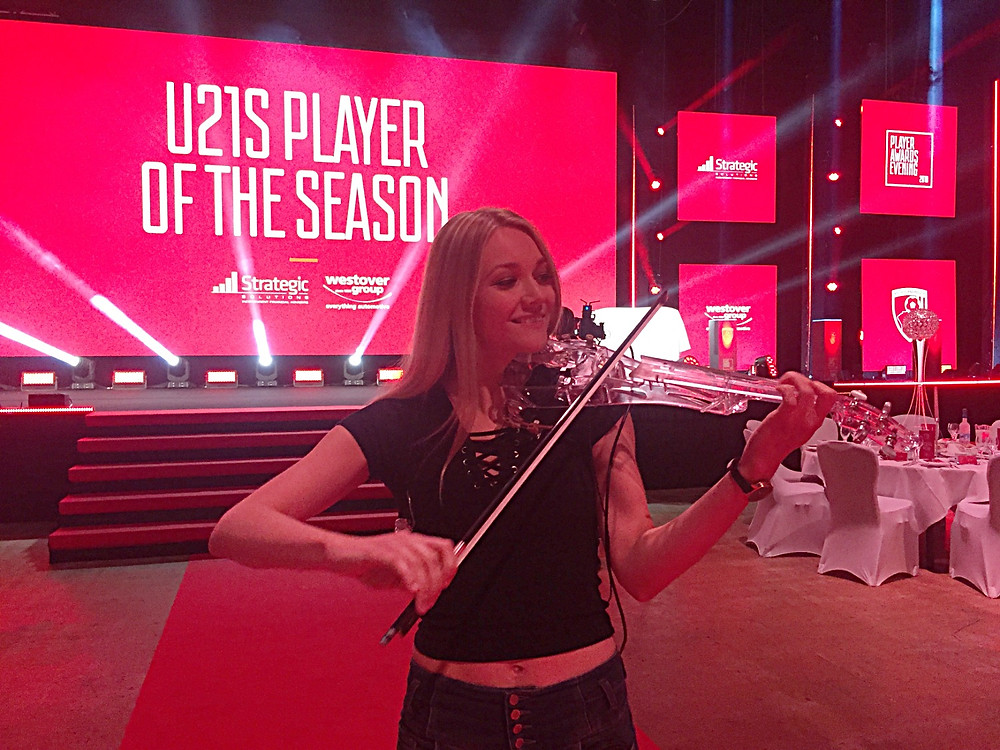 Electric Violinist Sally Potterton - AFC Bournemouth