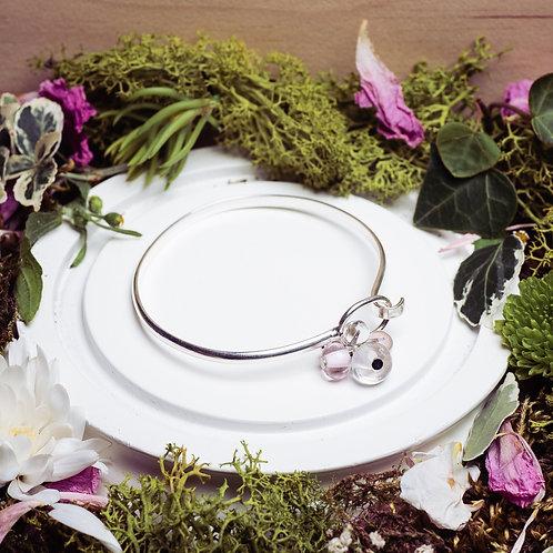 """Bracelet """"Les asymétriques"""" - verre et argent 925"""