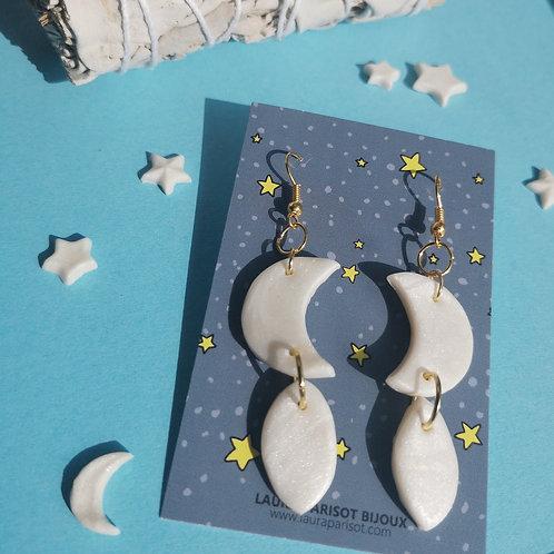 Boucles d'oreilles Moon - Les astrales