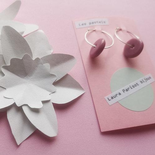 Boucles d'oreilles Les Pastels - Les créoles