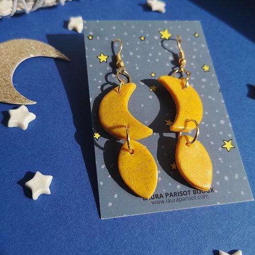 Boucles d'oreilles Moon gold - Les astrales
