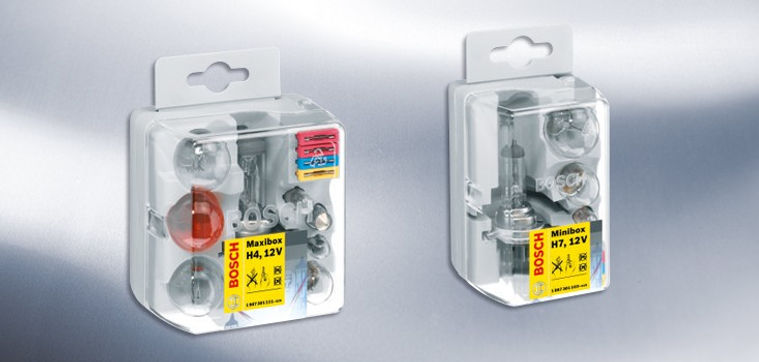 Bosch automotive bulbs, brake lights, replacement bulb box
