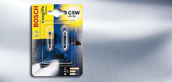 Bosch automotive bulbs, brake lights, tail lights, interior light