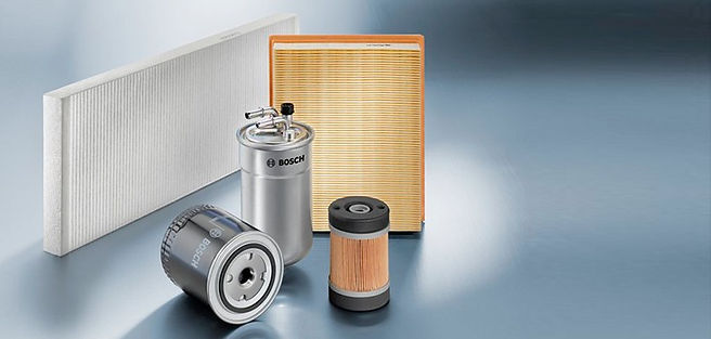 Bosch Filters, oil filter, air filter, diesel filter, gasoiline filter, cabin filter