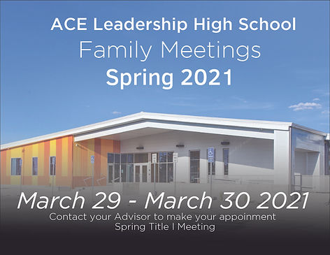 Title 1 Family Meeting Flyer Spring 2021