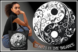 Ruftup Tote bag 001 Yin & Yang Beauty In The Balance Ruftup Design Website.jpg