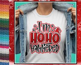 I'm Ho Ho Hammered Christmas Design