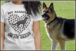 My Alsatian Leaves Pawprints on my Heart By Ruftup Designs