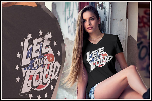 Lee Out Loud American Pride V-Neck Tshir
